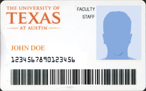 Ut self service for University id card template