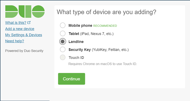 "Screenshot of the ""What type of device are you adding?"" prompt."